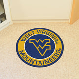 WEST VIRGINIA MOUNTAINEERS ROUND RUG
