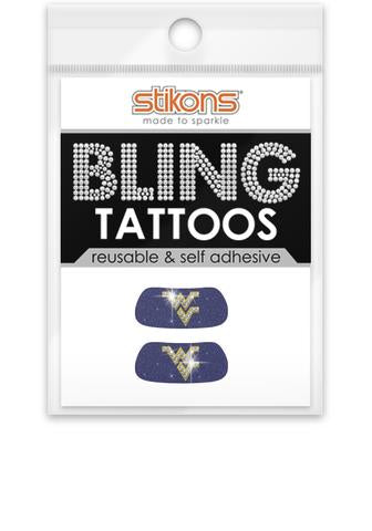 BLING AND GLITTER FACE TATTOOS 2-PACK