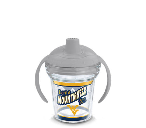 BORN A MOUNTAINEER FAN SIPPY CUP