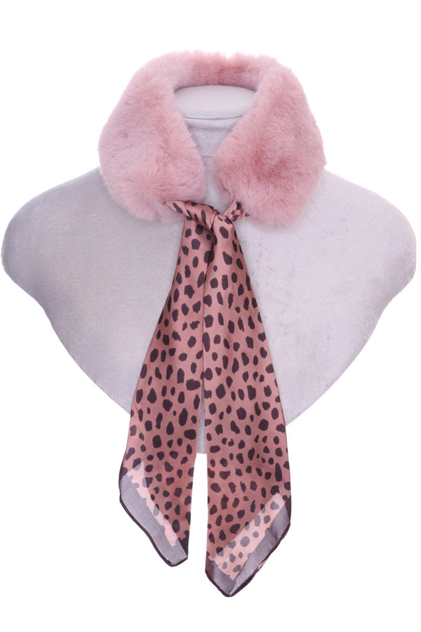 Lilliana Silk & Fur Collar