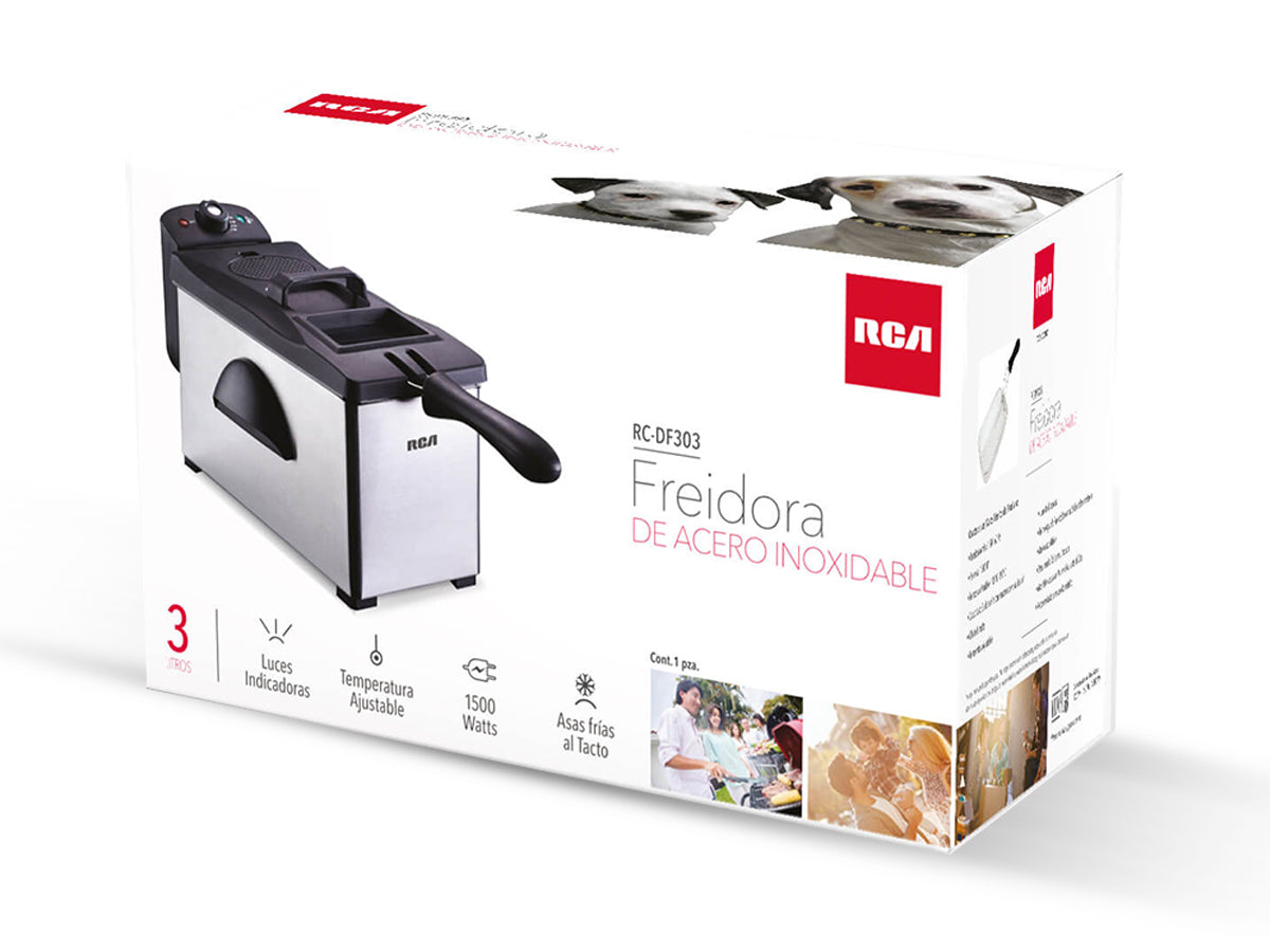 Freidora de Acero Inoxidable RC-DF303