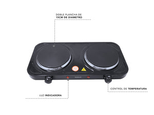 RCA Parrilla Eléctrica Doble / RCA Electric Grill with Double Plate