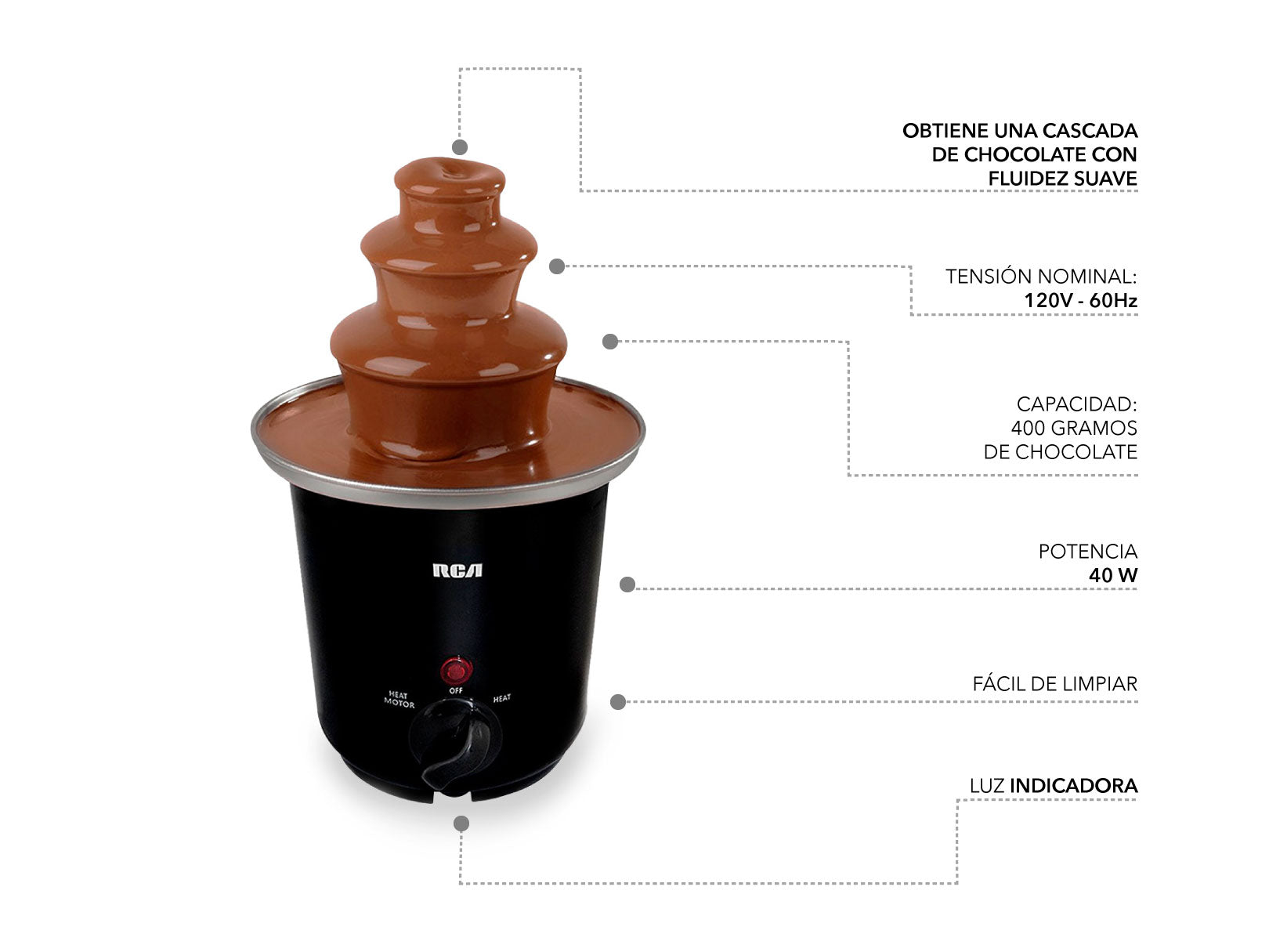 Mini Fuente de Chocolate. / Mini Chocolate Fountain.