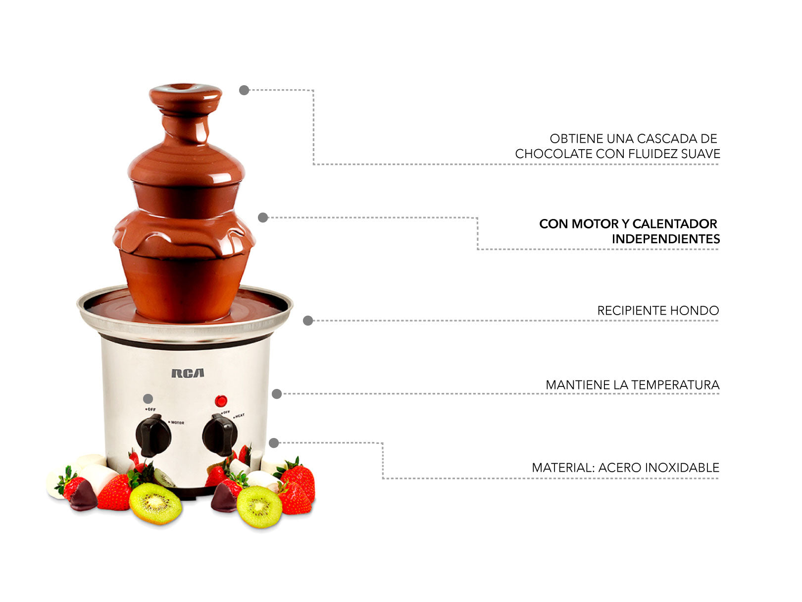 Fuente de Chocolate. / Chocolate Fountain.