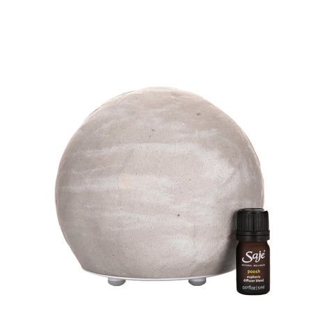 Positively Poosh Ultrasonic Diffuser Kit in Grey