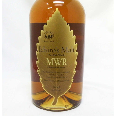 Ichiro's Malt MWR Mizunara Wood Leaf Label 46 degrees 700ml:SAKEMON