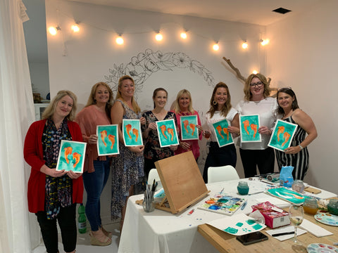 Paint and Sip night art party