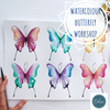 WATERCOLOUR BUTTERFLIES AND CHAKRA COLOUR THERAPY