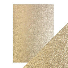 Load image into Gallery viewer, Craft Perfect Luxury Embossed A4 Cardstock - Golden Satin