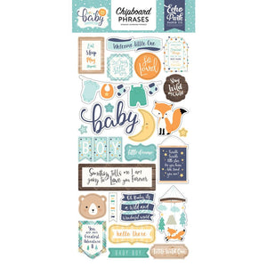 "Hello Baby Boy Chipboard 6""X13"""