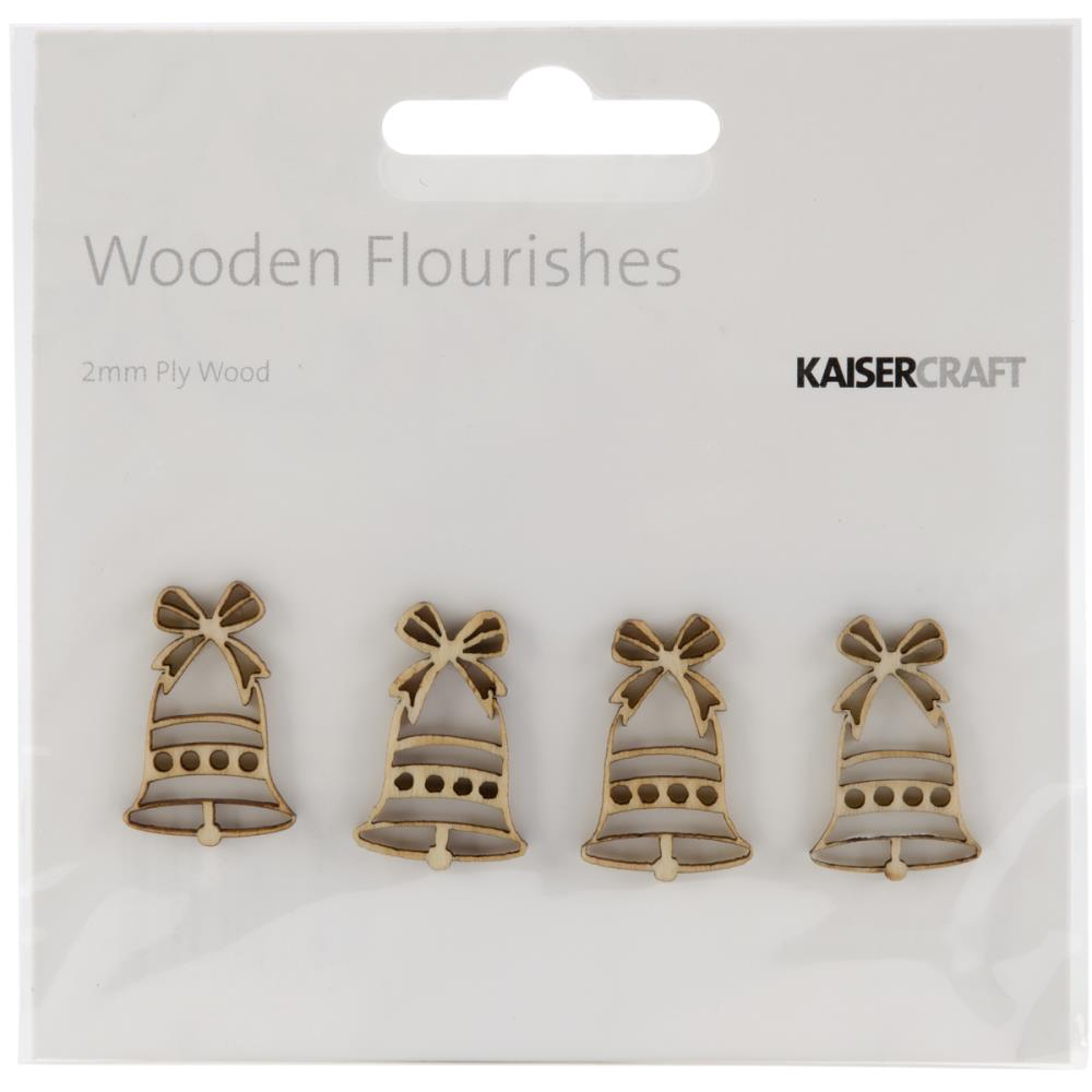 Kaisercraft Wood Flourishes 4/Pkg