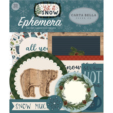Load image into Gallery viewer, Carta Bella Let It Snow Ephemera Cardstock Die-Cuts 33/Pkg