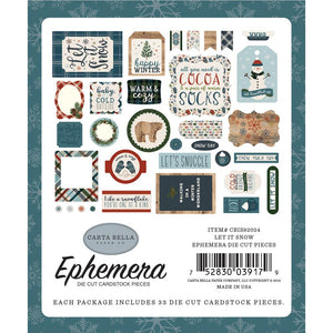 Carta Bella Let It Snow Ephemera Cardstock Die-Cuts 33/Pkg