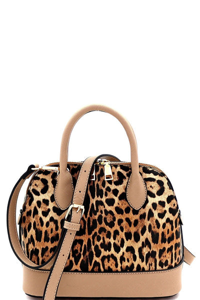 The Ramona Leopard Satchel Handbag
