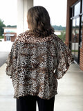 Fall Vibes Kimono In Brown Leopard