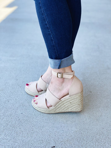 The Bella Wedge in Nude