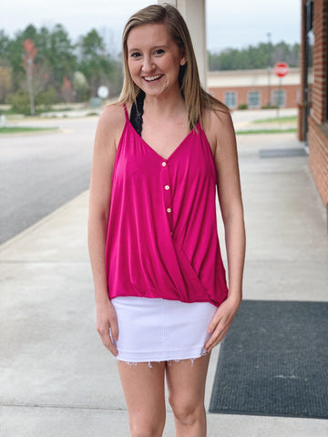 The Elle Tank Top in Magenta