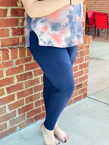 Runaway Heart Leggings in Navy
