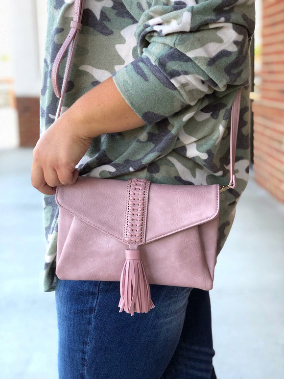 It's A Date Clutch In Mauve