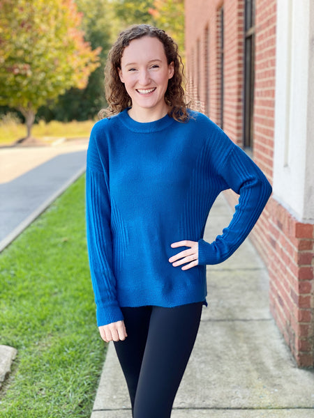 The Crystal Sweater in Blue