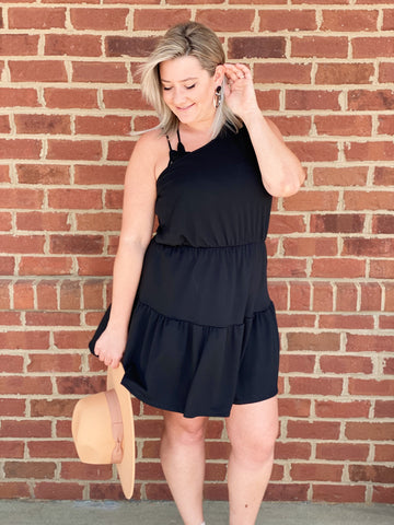 The Andrea Mini Dress in Black