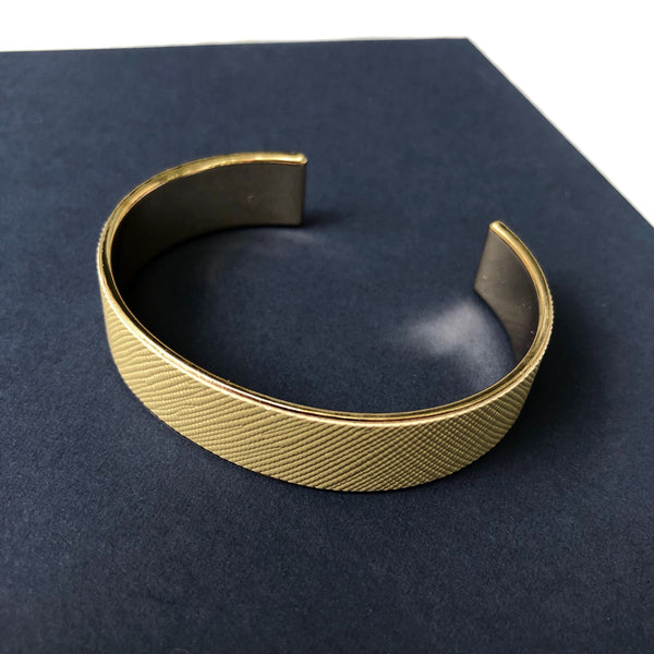 Trust Me Leather Bracelet In Gold