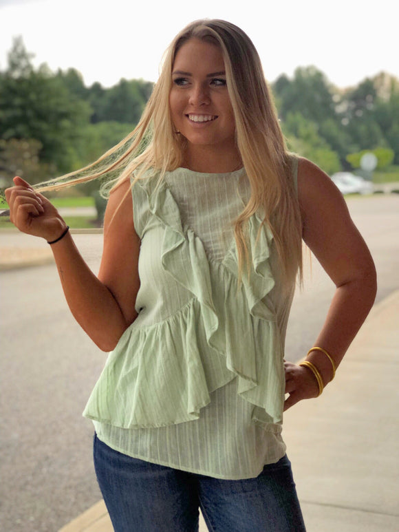 Kisses In Key West Ruffle Top