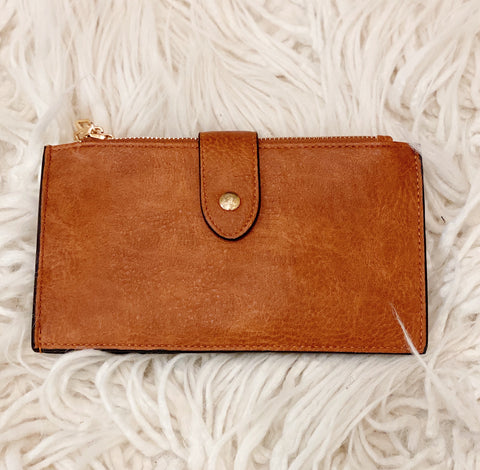 Compartment Wallet in Light Brown