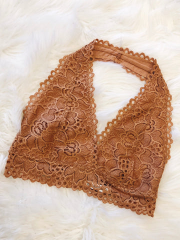 So This is Love Bralette in Camel