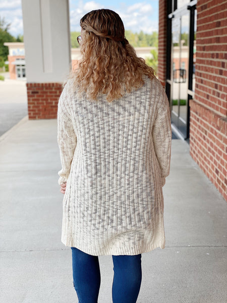 The Dakota Sweater Cardigan in Cream