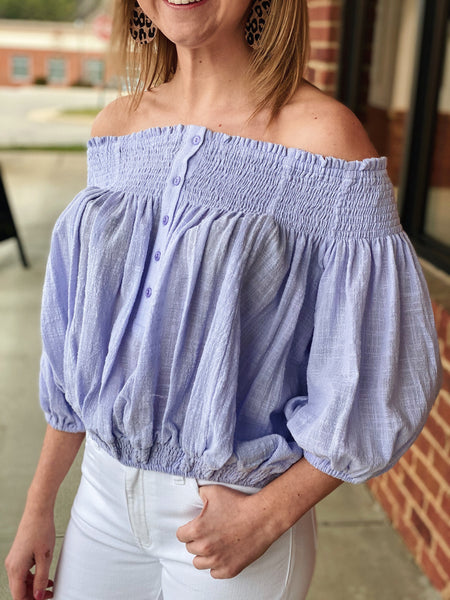 The Phoebe Top in Lilac