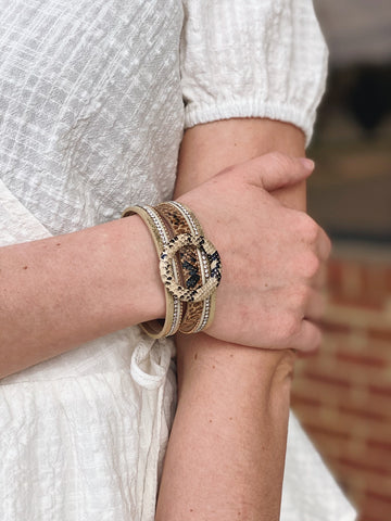 The Cindy Snakeskin Print Bracelet