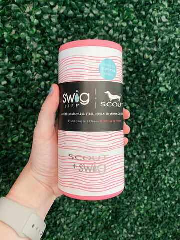 Swig 12oz Skinny Can Cooler Wave Love by SCOUT