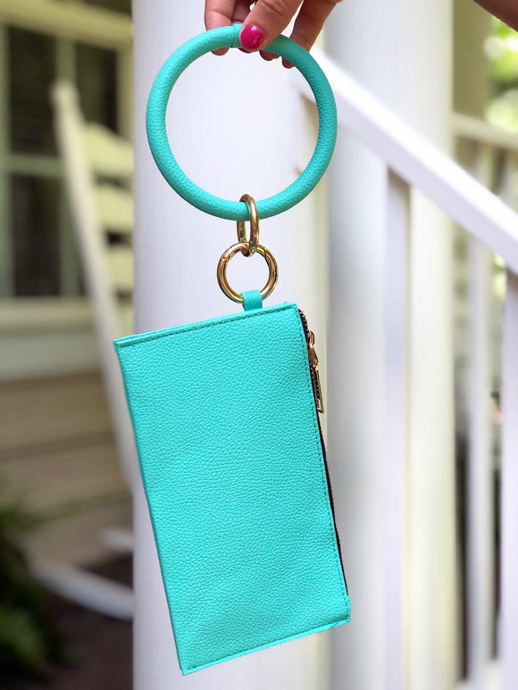 Dance All Night Bracelet Clutch Turquoise