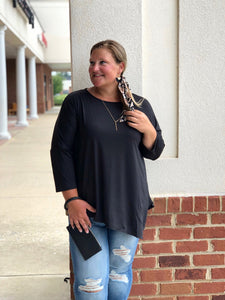 Be Your Best Dolman Top In Black