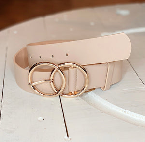 Double O Belt in Taupe
