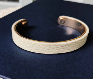 Work For It Leather Bracelet In Ivory