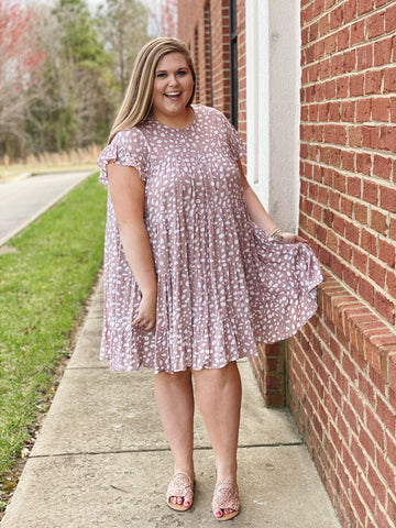 The Victoria Tiered Dress in Mauve