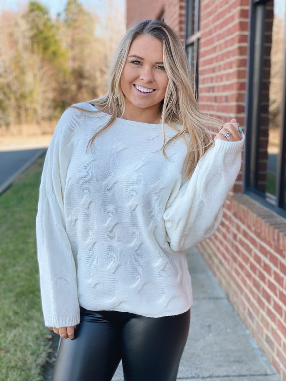 The FiFi Sweater In Ivory