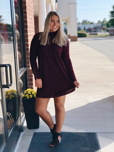 Falling in Love Maroon Dress