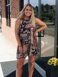 Lead Me There Tank Dress in Multi/Floral