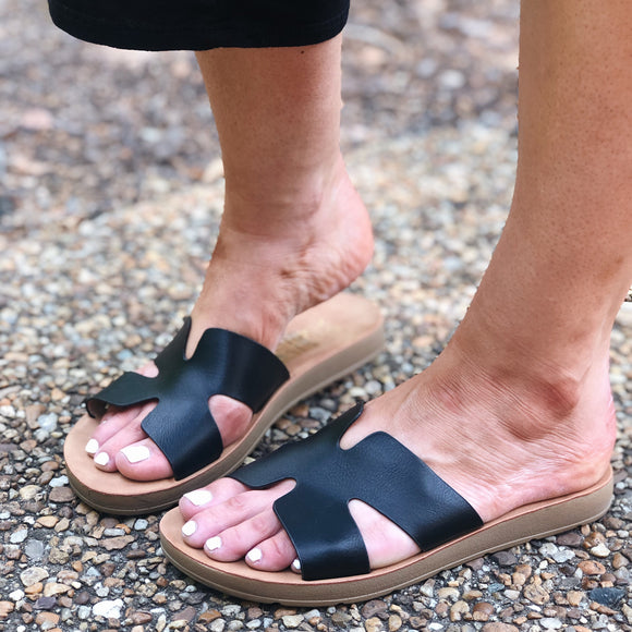 Ancient Greece Sandals Black