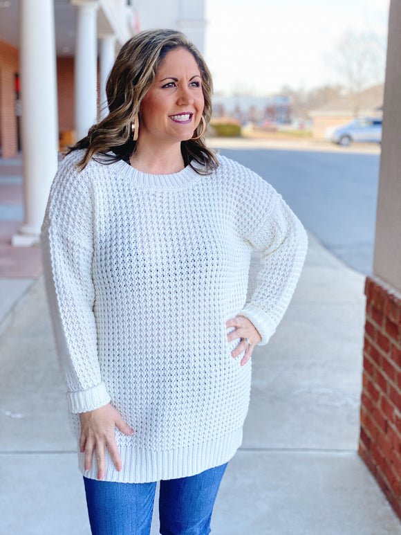 Winter Wonders Sweater in Ivory