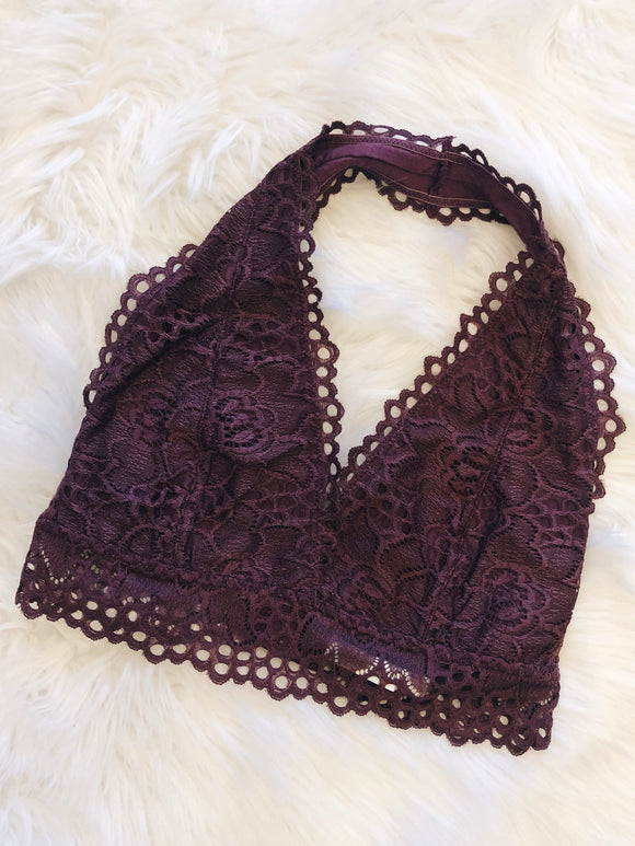 So This is Love Bralette in Eggplant