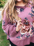 Stole My Heart Top in Mauve/Floral