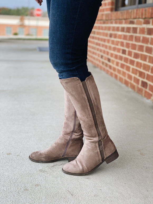 The Trixie Tall Boot in Taupe