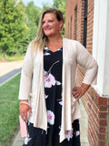 Dream Chaser Taupe Cardigan