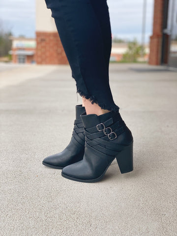 The Camila Bootie in Black