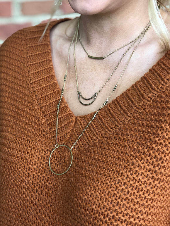 Wonderfully You Layered Necklace in Gold