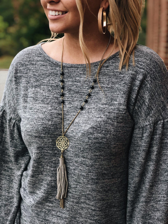 Pull it Together Necklace in Gold